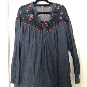 FREE PEOPLE mixed media tunic
